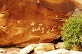Pétroglyphes sur Delicate Arch Trail