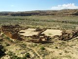 Pueblo Bonito vu depuis Alto Pueblo Trail