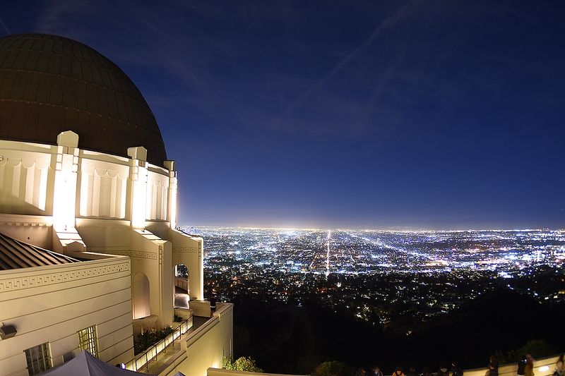 Vue du Griffith Observatory