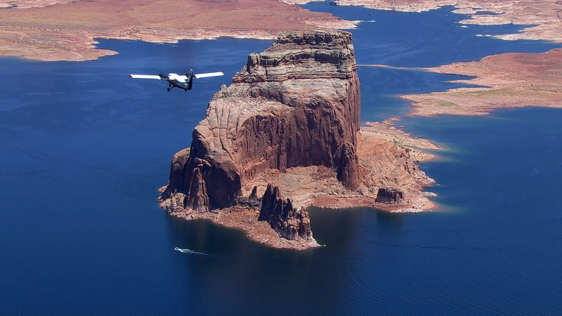 Survol en avion du Lake Powell