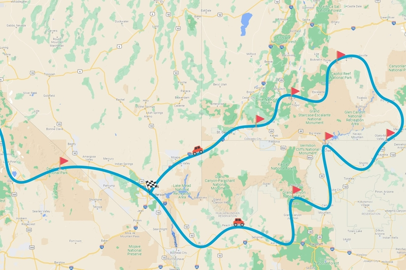 Circuit de 2 semaines en Californie, Utah et Arizona : le tour des musts