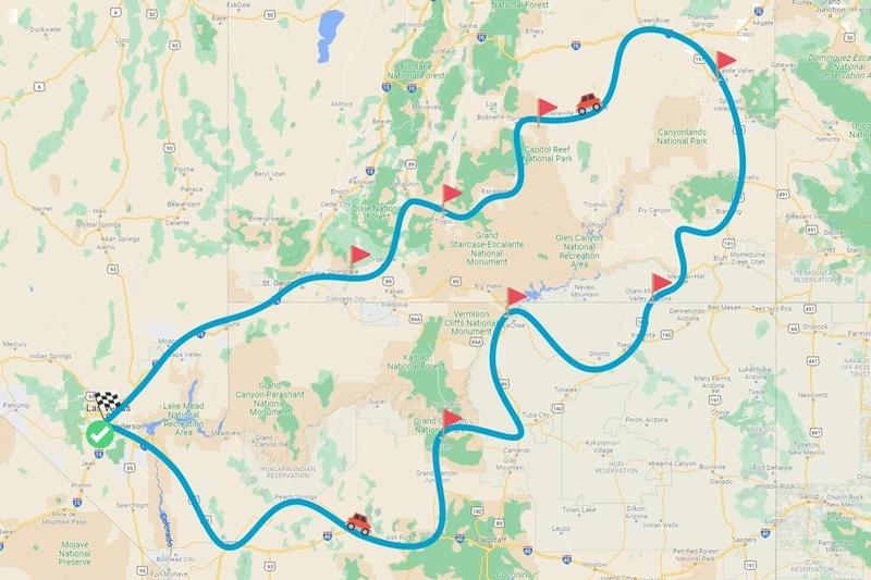 Circuit des grands parcs nationaux de l'Ouest au départ de Las Vegas