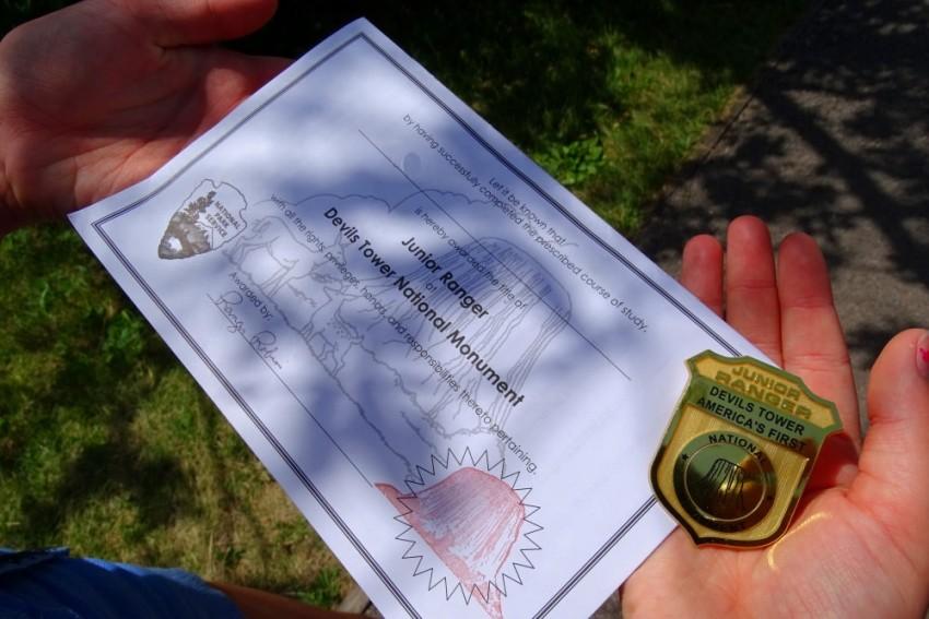 Diplôme et badge Junior Ranger Program