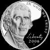 Pièce de 5 cents de dollar américain